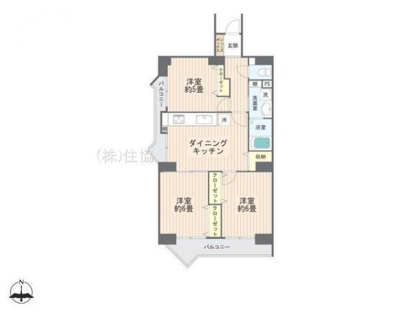 中古マンション 坂戸市千代田4丁目 東武東上線若葉駅 1320万円