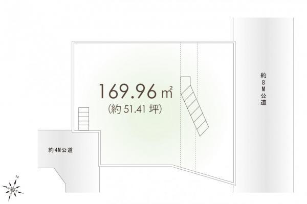 土地 富士見市針ケ谷1丁目 東武東上線みずほ台駅 3080万円