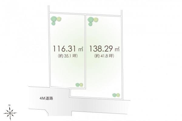 土地 小金井市緑町4丁目 JR中央線武蔵小金井駅 4780万円