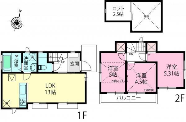 新築戸建 富士見市羽沢2丁目 東武東上線鶴瀬駅 2590万円