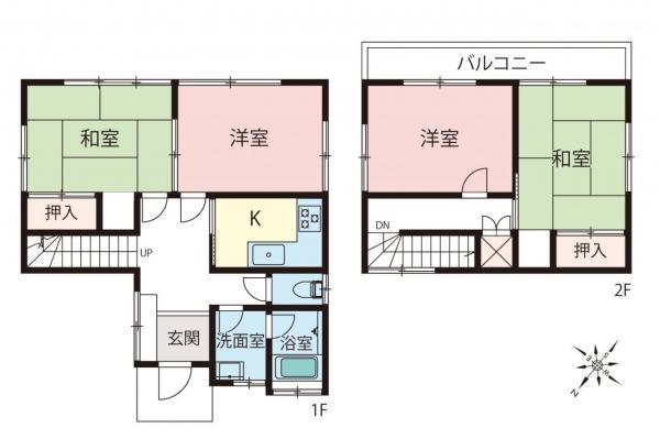 中古戸建 富士見市山室1丁目 東武東上線鶴瀬駅 1700万円