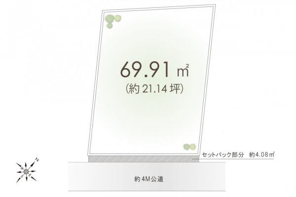 土地 入間郡三芳町大字藤久保 東武東上線鶴瀬駅 1300万円