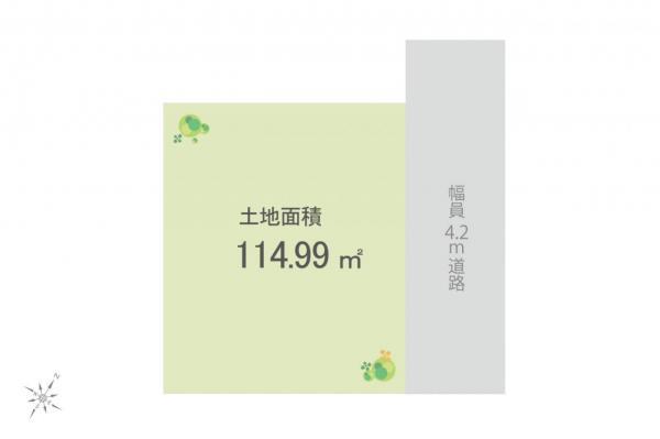 土地 狭山市大字北入曽 西武新宿線入曽駅 1200万円