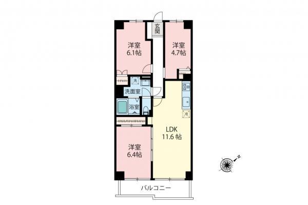 中古マンション 新座市野火止4丁目 JR武蔵野線新座駅 1990万円