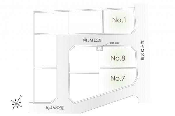 土地 鶴ヶ島市大字藤金 東武東上線若葉駅 2150万円~2280万円