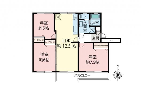 中古マンション 東久留米市滝山2丁目 西武新宿線花小金井駅 1290万円