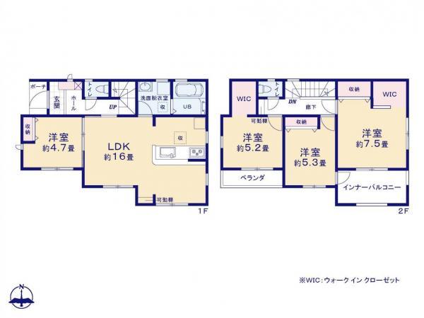 新築戸建 所沢市大字下新井 西武新宿線航空公園駅 2680万円