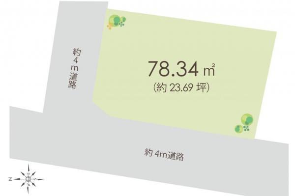 土地 新座市馬場2丁目 東武東上線朝霞台駅 880万円
