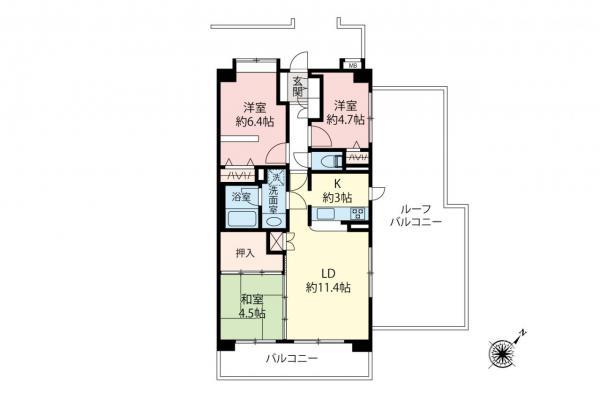 中古マンション 板橋区赤塚3丁目 東武東上線成増駅 3980万円