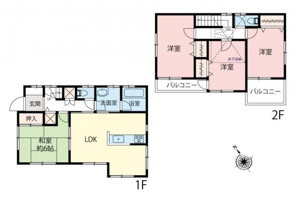 中古戸建 富士見市関沢2丁目 東武東上線鶴瀬駅 3180万円