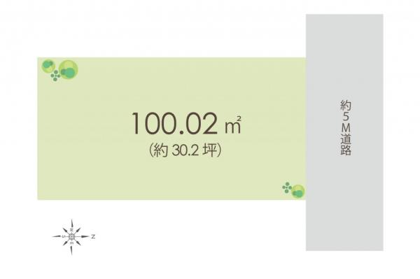 土地 川越市的場2丁目 JR川越線的場駅 1500万円