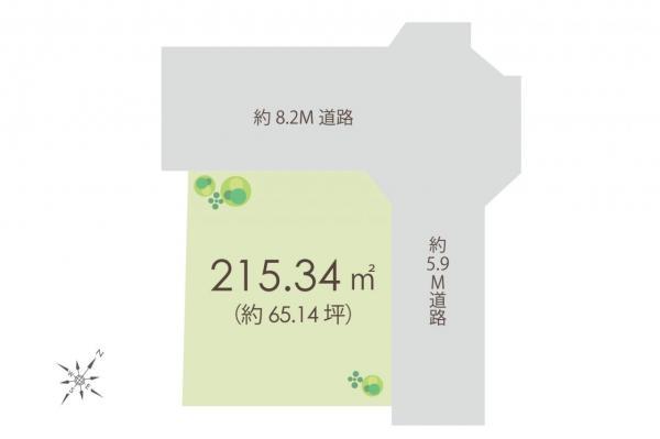 土地 狭山市大字北入曽 西武新宿線入曽駅 2400万円