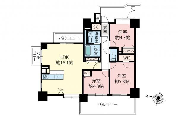中古マンション 和光市白子2丁目 副都心線地下鉄成増駅 3180万円