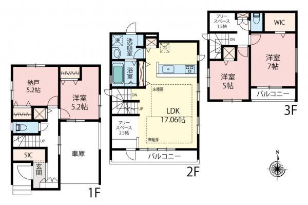 新築戸建 練馬区平和台1丁目 東武東上線上板橋駅 6890万円