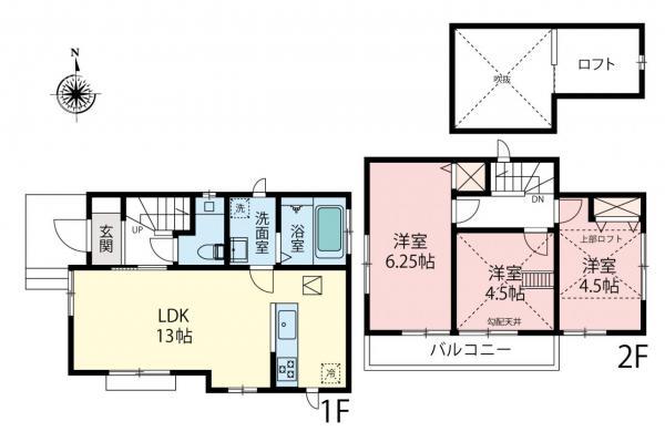 新築戸建 所沢市こぶし町 西武池袋線所沢駅 2490万円