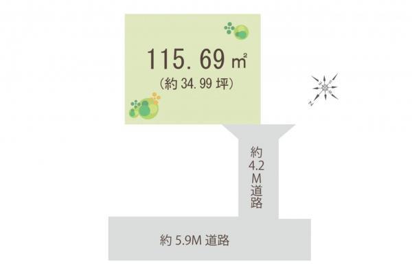 土地 川越市稲荷町 東武東上線新河岸駅 1650万円