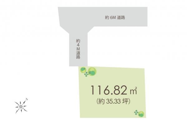 土地 新座市野火止6丁目 JR武蔵野線新座駅 1750万円
