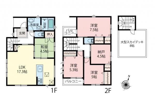 新築戸建 戸田市美女木1丁目 JR埼京線北戸田駅 4280万円
