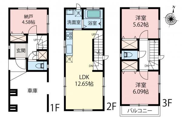 新築戸建 富士見市関沢3丁目 東武東上線みずほ台駅 2690万円