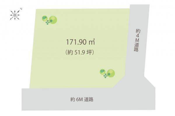 土地 狭山市大字水野 西武新宿線入曽駅 1880万円
