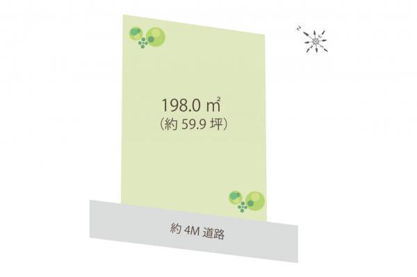 土地 狭山市大字水野 西武新宿線入曽駅 1980万円