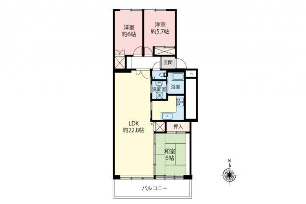 中古マンション 中野区白鷺2丁目 西武新宿線鷺ノ宮駅 3780万円