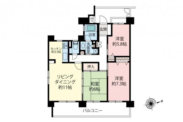 中古マンション 和光市下新倉4丁目 都営三田線西高島平駅 3490万円