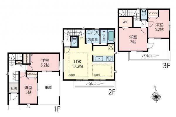 新築戸建 さいたま市南区根岸3丁目 JR京浜東北線南浦和駅 5490万円~5990万円