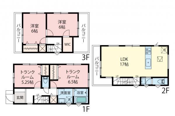新築戸建 さいたま市南区別所2丁目 JR埼京線武蔵浦和駅 5280万円