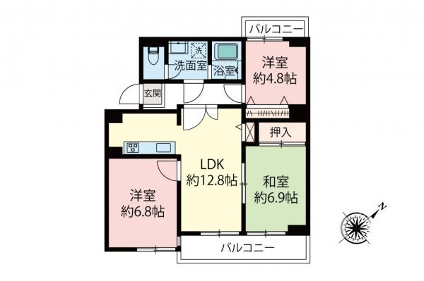 中古マンション 板橋区三園1丁目 都営三田線西高島平駅 2599万円