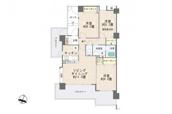 中古マンション 板橋区蓮根3丁目 都営三田線西台駅 3398万円