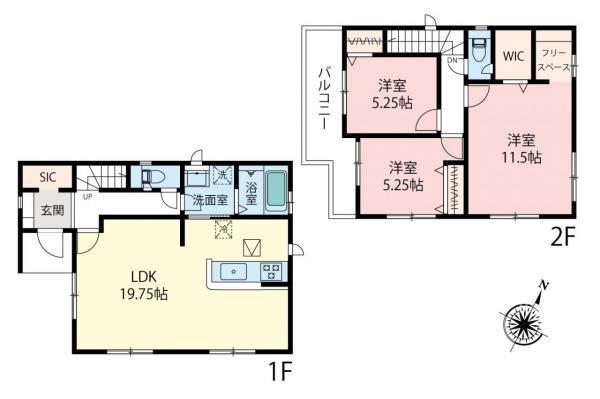 新築戸建 富士見市鶴瀬西3丁目 東武東上線鶴瀬駅 4380万円