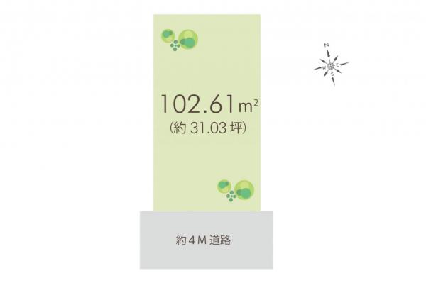 土地 新座市北野2丁目 JR武蔵野線新座駅 2680万円
