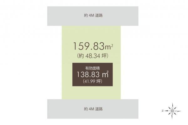 土地 練馬区石神井町1丁目 西武池袋線練馬高野台駅 7380万円