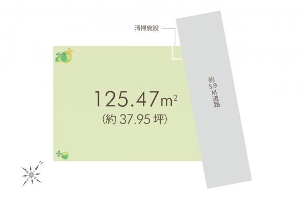 土地 所沢市喜多町 西武新宿線航空公園駅 3680万円