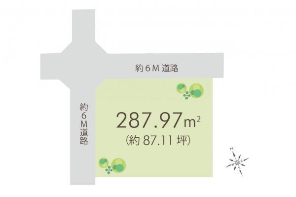 土地 坂戸市伊豆の山町 東武東上線北坂戸駅 2980万円