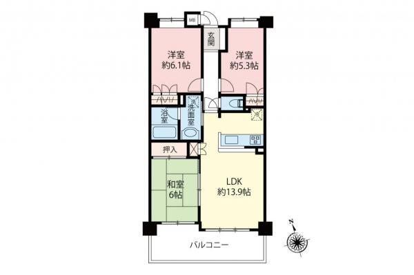 中古マンション 和光市白子3丁目 都営三田線西高島平駅 3480万円