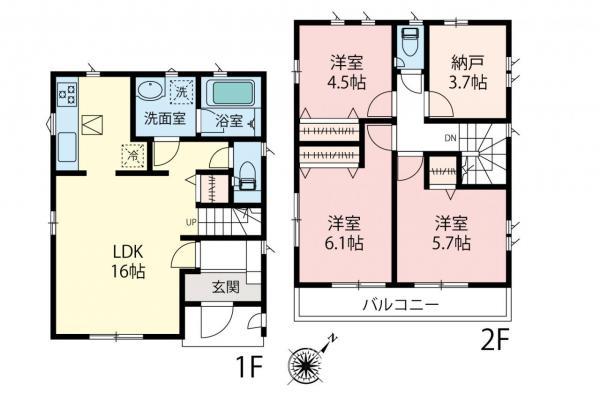 新築戸建 板橋区三園1丁目 東武東上線成増駅 5380万円