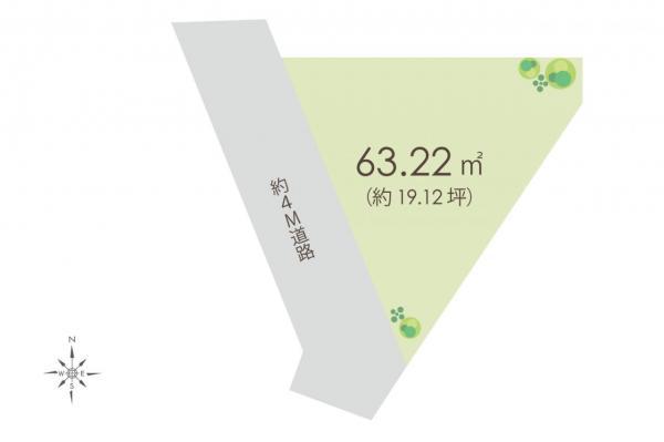 土地 所沢市大字下安松 西武池袋線清瀬駅 600万円