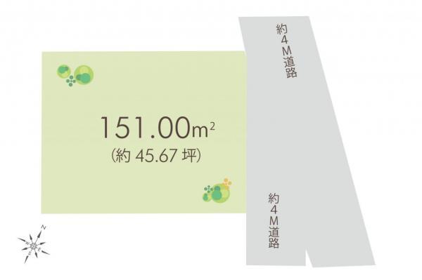 土地 狭山市大字水野 西武新宿線入曽駅 1780万円
