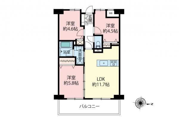 中古マンション 小金井市本町2丁目 JR中央線武蔵小金井駅 4480万円