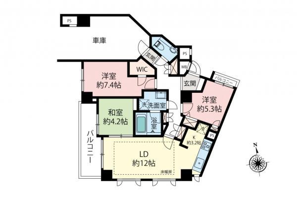 中古マンション 杉並区下井草5丁目 西武新宿線井荻駅 5480万円