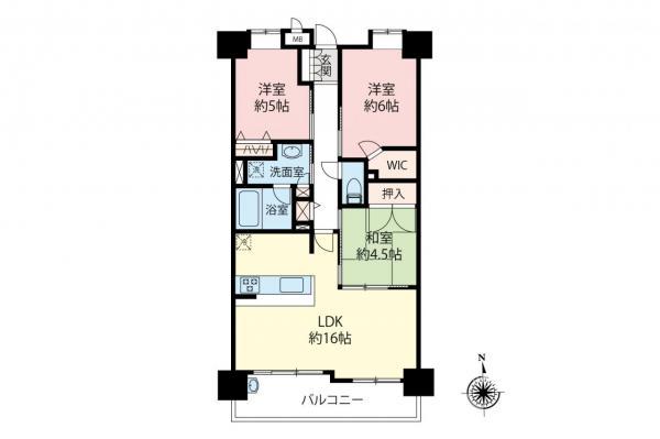 中古マンション 中野区鷺宮5丁目 西武新宿線鷺ノ宮駅 5990万円