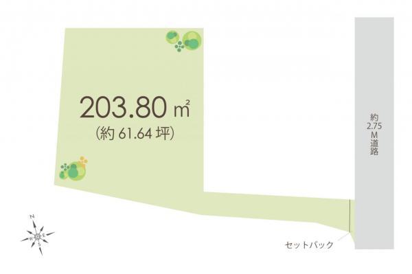 土地 狭山市大字南入曽 西武新宿線入曽駅 1980万円