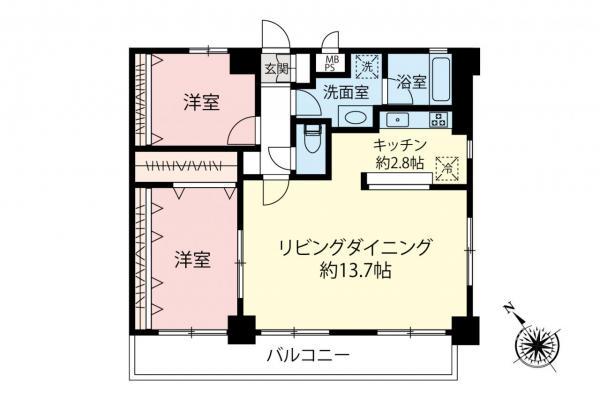 中古マンション 和光市白子2丁目 有楽町線地下鉄成増駅 2380万円