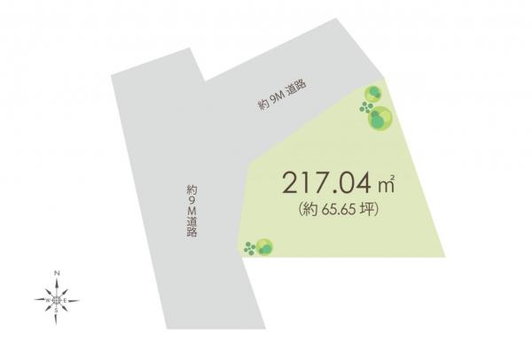 土地 川越市大字的場 JR川越線的場駅 3000万円