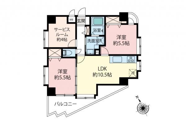 中古マンション 清瀬市松山2丁目 西武池袋線清瀬駅 2680万円