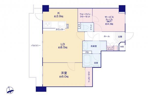 中古マンション 杉並区阿佐谷北6丁目 西武新宿線鷺ノ宮駅 5680万円