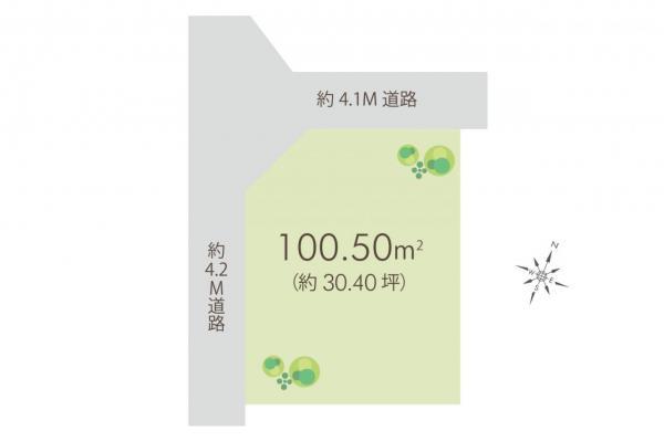 土地 狭山市大字北入曽 西武新宿線入曽駅 1100万円