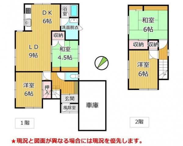中古戸建 函館市西旭岡町2丁目47-9 駅 730万円